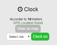 Clock on GPS