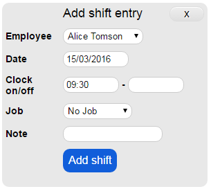 Manually Add Shift