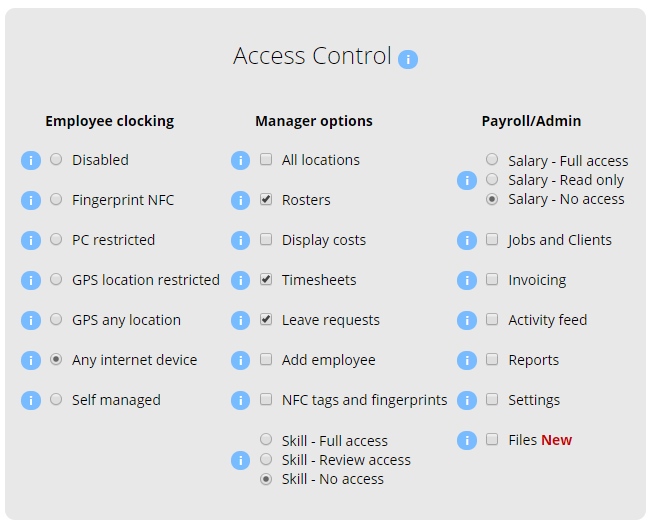 Access Control Employee Manager Access