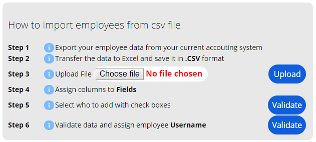 Import Employees from CSV File
