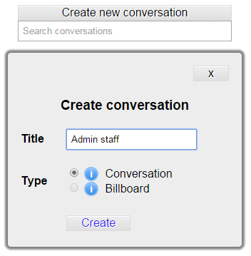 create conversation form