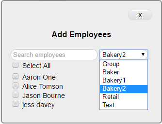 Add employee to conversation