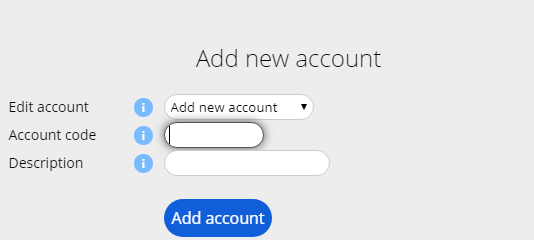Adding new MYOB Accounts